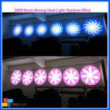 Etapa de equipos LED 260W Cabezal movible de haz de luz de eventos/DJ
