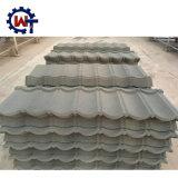 Productos duraderos materiales de construcción de madera metal recubierto de piedra Teja
