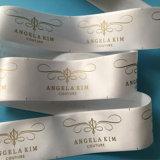 Preço baixo tecidos personalizados etiquetas impressas a ouro