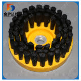 Schwarzer gelber Platten-Platten-Nylonpinsel