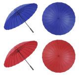 High-Quality 24 кости зонтик Мужчины Женщины Long-Handled ТЕБЯ ОТ ВЕТРА вручную для использования вне помещений большой солнечный дождь зонтик