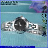 Form-lederne Brücke-Quarz-Frauen-kundenspezifische Uhr (Wy-010E)