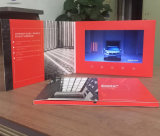 Impresión de encargo de la alta calidad folleto video de 7 pulgadas para el festival de la Navidad