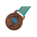 Alliage de zinc moulé sous pression, médaille de métal Spinning médaille avec paillettes