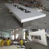 Modèle moderne de tables de réunion de salle de conférence de bureau en pierre artificiel acrylique de Boadroom