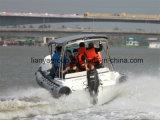 Nave di soccorso gonfiabile rigida della guardacoste dei militari di Liya 3.3-8.3m