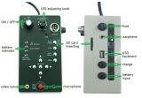 Sistema de cámaras de CCTV 512 Hz Sonde 30m de cable de vídeo de la Cámara de inspección de tubos