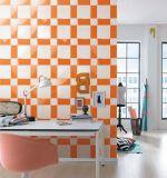 Wand-Untergrundbahn-Fliese-Badezimmer-/Küche-Dekoration der Orangen-3X6inch/7.5X15cm glatte Schrägfläche glasig-glänzende keramische