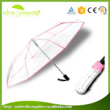 Зонтик печатание 3 высокого качества изготовленный на заказ складывая прозрачный