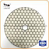 "5 "" /125mm는 디스크를 가는 대리석 화강암을%s 다이아몬드 지면 닦는 패드 거친 공구를 말린다"