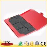 Portatarjetas hermoso del nombre comercial del acero inoxidable del metal y sostenedor de la tarjeta de crédito y Cardcase