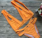 새로운 디자인 오렌지는 결박 비키니 수영 착용을 그만두었다