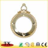 Decoração de brilho do ouro dos presentes da lembrança da forma redonda