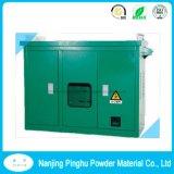 Pintura de pó verde escuro para gabinete de distribuição de energia
