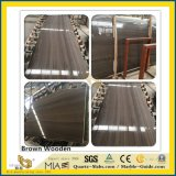 Natural Polished Brown Coffee Wood Grey Stone Marble for Kitchen/Bathroom/Wall/Flooring/Step/Tile/Cladding