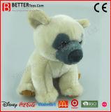 Peluche molle bourrée réaliste d'ours blanc de jouet d'ASTM pour des gosses/enfants