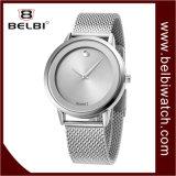 Belbi Geschäfts-einfacher Vorwahlknopf-Entwurfs-ultradünne Stahlfrauen-Armbanduhr