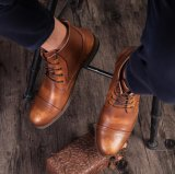 Кожаный чехол для голени Custom мужчин дизайн лодыжки платья Ковбой Boot мужчин