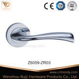 Le Style européen Nickel satin/Or Rose de poignée de porte tubulaire (Z6058-ZR03)