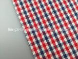 綿の糸はドビーの小切手ファブリックLz8050を染めた