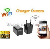 Uma alta tecnologia preta HD 1080P de 90 graus nenhuma câmera da carga do USB do carregador da câmera de WiFi da câmara de vídeo de Digitas do furo