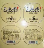 Validar el tipo escritura de la etiqueta de la etiqueta engomada de la orden de encargo y del pegamento de la botella de vino