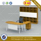 Tabella esecutiva dell'ufficio dello scrittorio del metallo del banco di legno d'acciaio del piedino (HX-8NE1069)