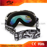 UV400 antibrouillard protègent des lunettes de vélo de ski d'eau de lunettes de ski de gicleur de moteur de bâti de la lentille TPU de PC