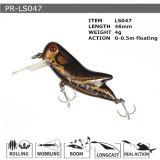 Pr-Ls047 disque flottant personnalisé Minnow leurre de pêche en plastique