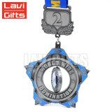 De in het groot Goedkope Draaibare Medaille van het Email van het Nikkel van de Douane Zachte