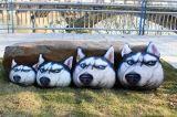 Hundegesichts-Kissen-Kasten des Kissen-3D, Kissen, rückseitiges Kissen