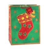 Geschenkpatten-Grün-Geschenk-Papierbeutel, Griff-Beutel, Einkaufstasche