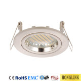 IP20 Chrome bague Twist Rock Downlight Fixture Downlight Led
