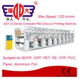 Velocidade média máquina de impressão computarizada do Gravure da película do trilho CPP para o empacotamento flexível