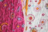 Kundenspezifische vorgewaschene haltbare bequeme Bettwäsche gesteppte Bettdecke der Bettdecke-1-Piece eingestellt für 44