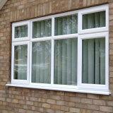 Blanco revestido del polvo popular del estilo que resbala la ventana de aluminio con las pantallas del acero inoxidable