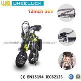 Bici eléctrica del mini plegamiento compacto con negro sin cepillo de la ayuda del motor