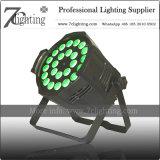 24X18W LEDの段階の照明DMX同価64はスポットライトで照らすことができる