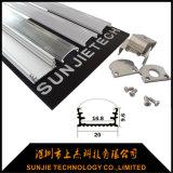 Profil en aluminium d'extrusion anodisé par argent pour la lumière de bande de DEL