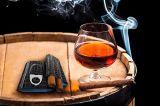 사치품 3 관 절단기에 의하여 포함되는 여행 가죽 담배 저장 상자