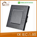 Le design de mode de l'interrupteur de porte en verre noir Bell