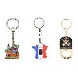Quaff preiswerte Sublimation-rundes Metall Keychain für kundenspezifisches Geschenk, Firmenzeichen durch Wärmeübertragung