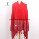 2017 Népal Style Plum Blossom Jacquard foulard Pashmina châle de mode