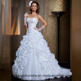 二つの部分から成った取り外し可能なスカートのウェディングドレスのサテンの婚礼衣裳