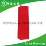 Изготовленный на заказ розничной мешок напечатанный роскошью бумажный для вин упаковки