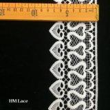 8cm schöne weiße geschnürte Ordnungs-Spitze mit Ineinander greifen-Netz und Inner-Franse Hmw6261
