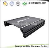 6.063 T5 Dissipador de calor em alumínio preto para o amplificador de áudio do carro