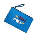 Heiße des Verkaufs-Lcq-070 Mappe Costomized Handtaschen Fisch-Stickerei-der Dame-Purse Coin Wallets PU Leather