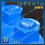 Válvula de puerta de alta presión de Didtek Pn100 con el volante de dirección
