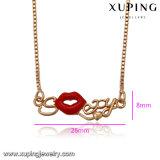 41630명의 형식 여자 사치품 Gold-Plated 모조 보석 목걸이 또는 사슬